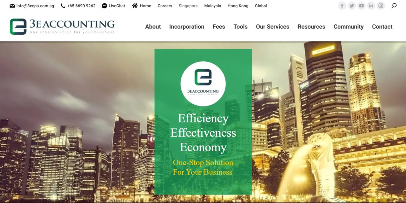 3E Accounting Home Page