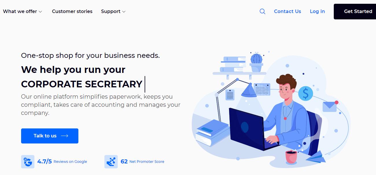 Sleek home page